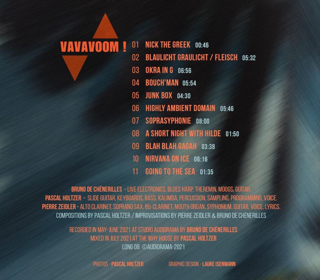 VAVAVOOM ! Verso pochette CD